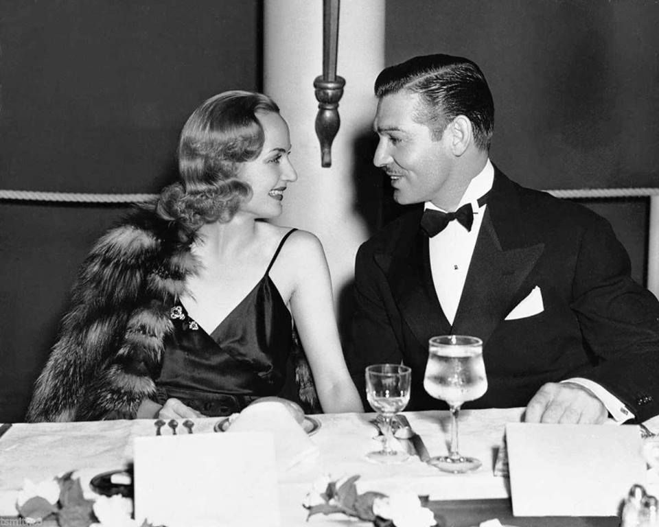 Carole Lombard and Clark Gable dining at THE Coconut Grove in LA, 1938