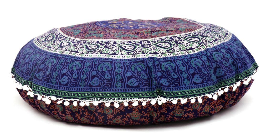 Chanchal Floral Mandala Meditation Floor Pillow Cover