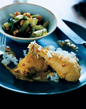 Chicken In Spicy Coconut Sauce Recipe Epicurious Com Mutton Recipes Recipes Cooking Meat