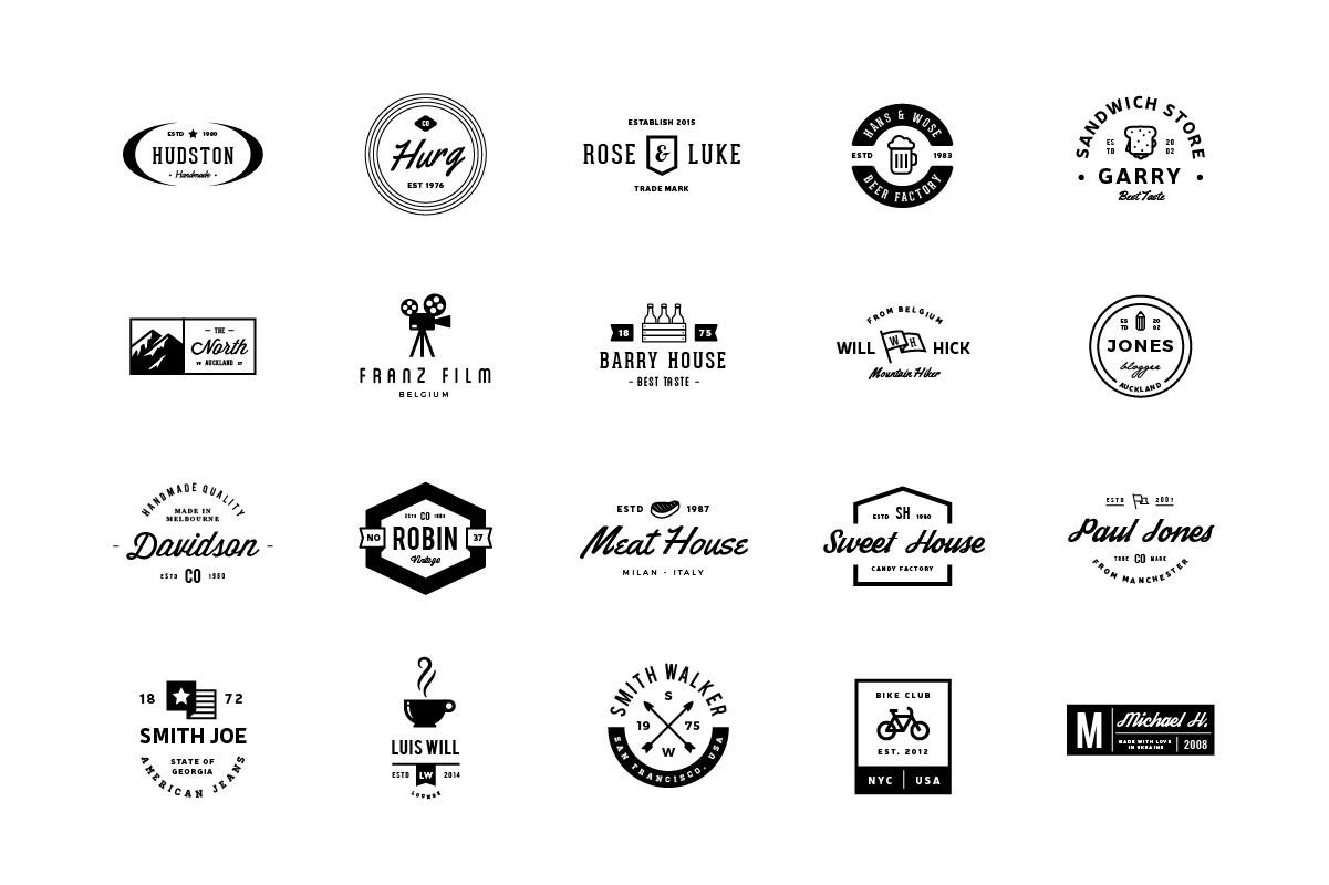 80 Logos Pack | Logos, Logo templates, Logo bundle