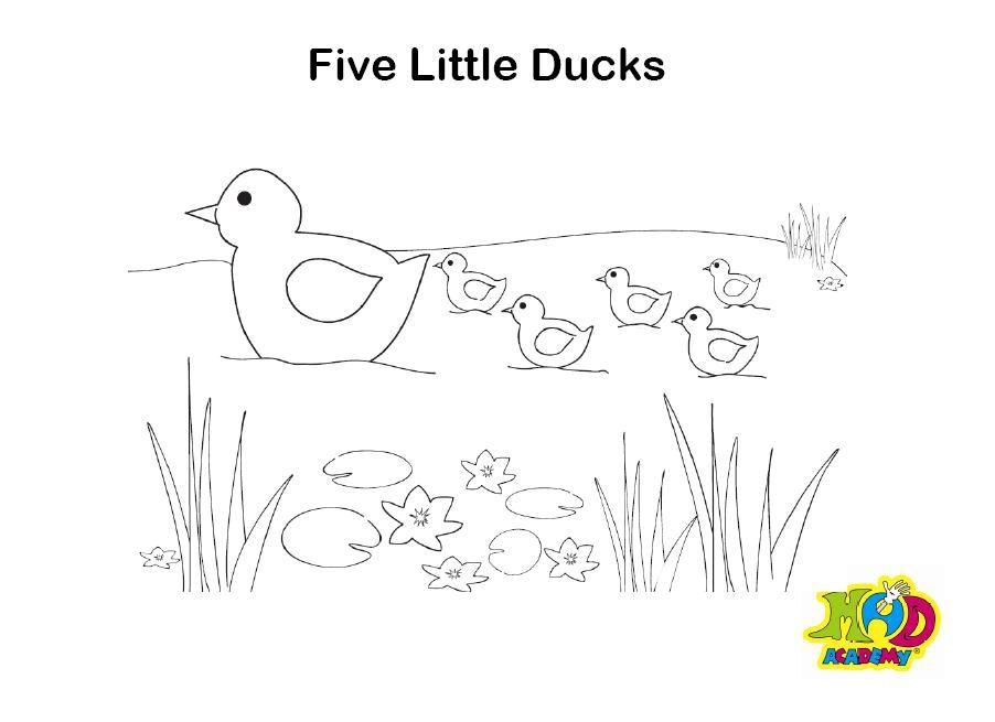 5 Little Ducks Printables Activities Little Duck Toddler Art