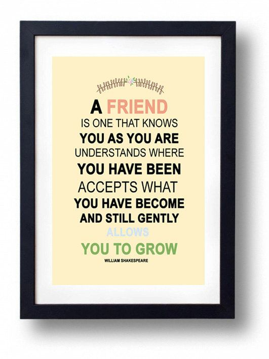 Gift For Sister, Best Friend-William Shakespearre Quote | For the