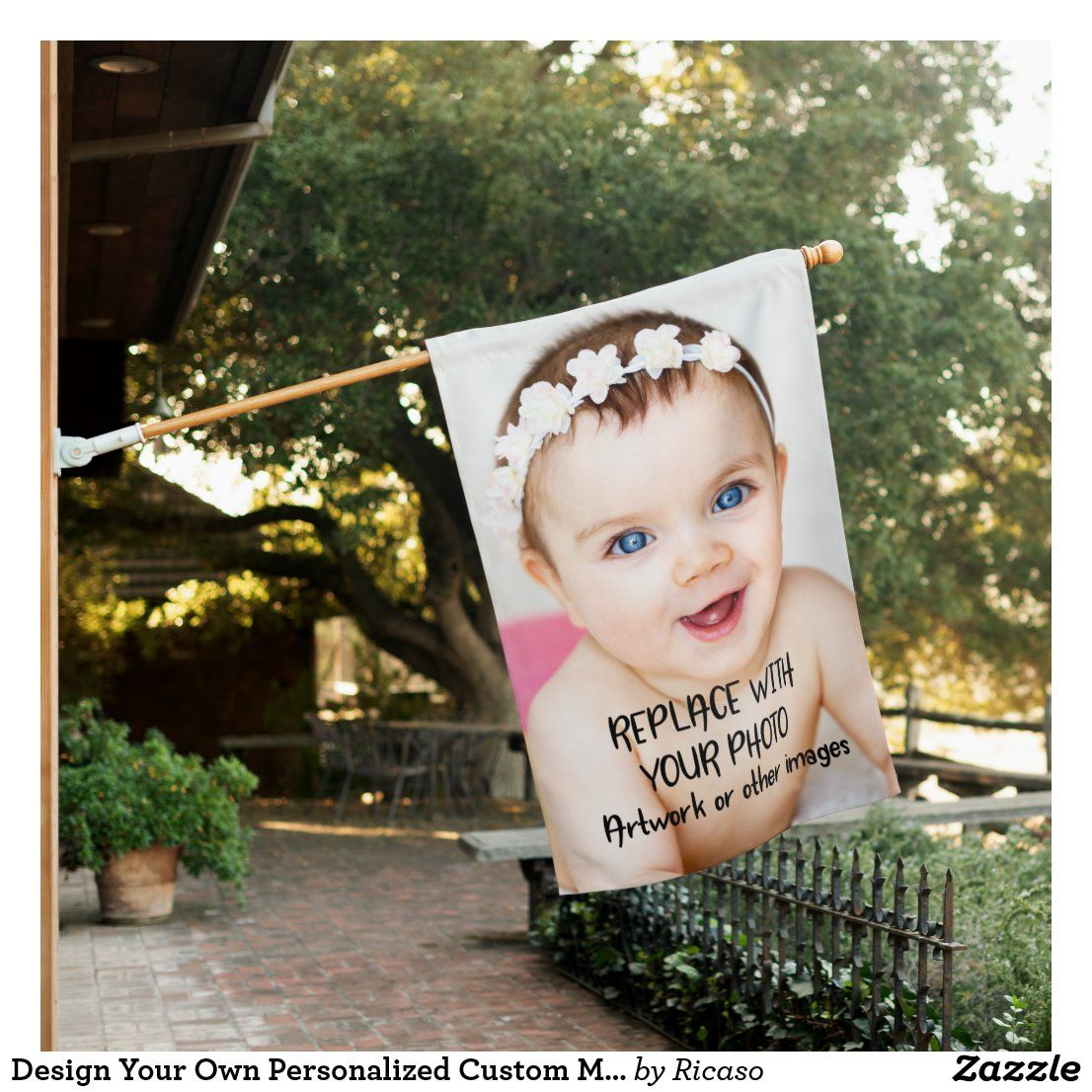 Design Your Own Personalized Custom Made House Flag Zazzle Com Personalized Custom Design Your Own House Flags