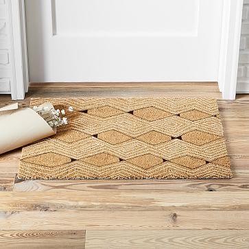 Drawn Diamonds Doormat In 2020 Door Mat Home Rugs Geometric Design