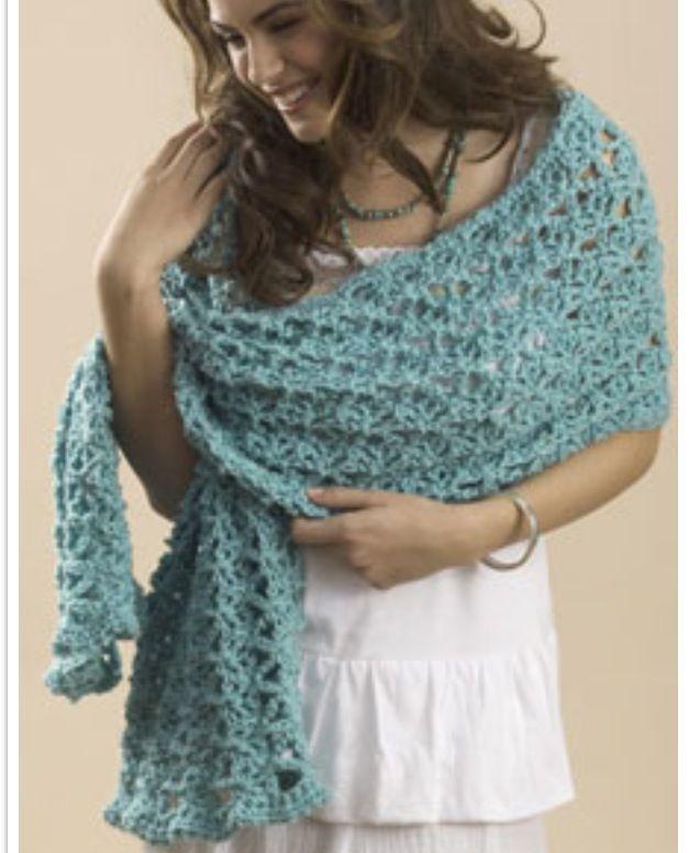 Open Weave Crochet Shawl Turquoise Crochet Pinterest Open