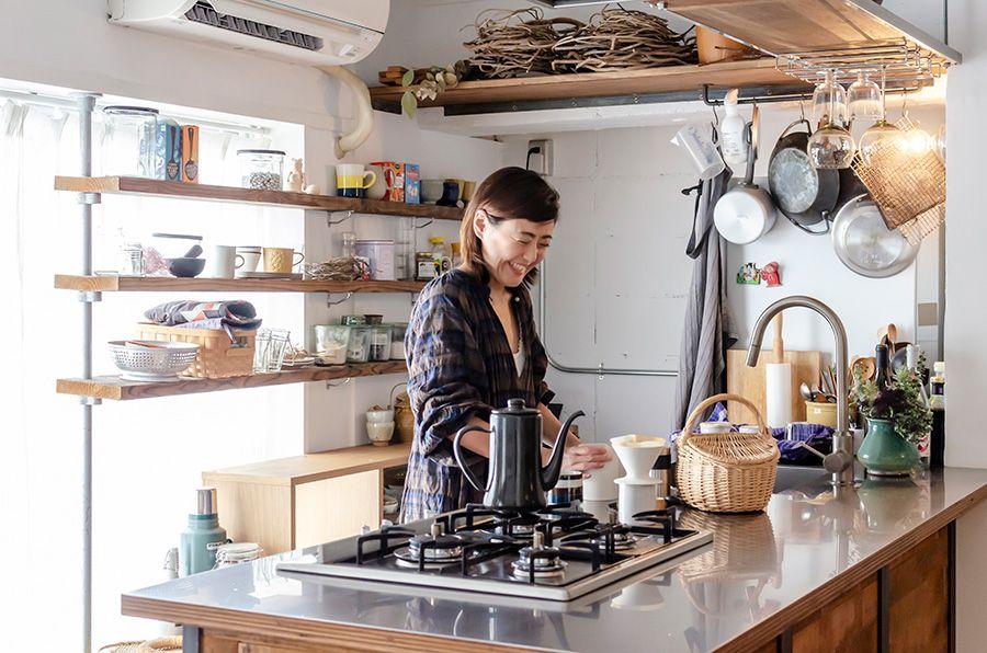 万能キッチンがあるきちんと使いきれるちょうどいい間取りの部屋 画像あり キッチン カフェ インテリア キッチン 間取り
