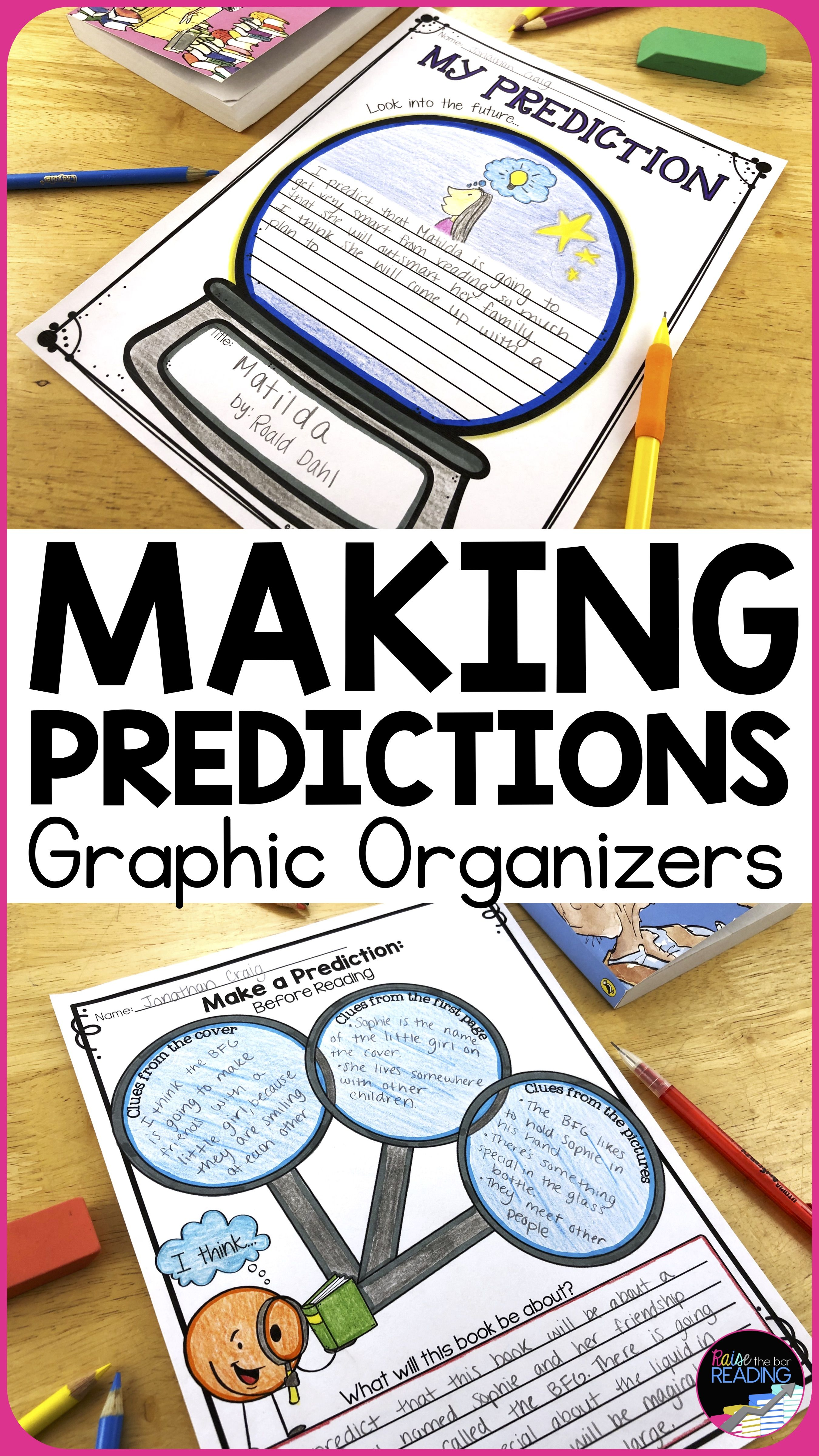 Making Predictions Graphic Organizer Poster Amp Making