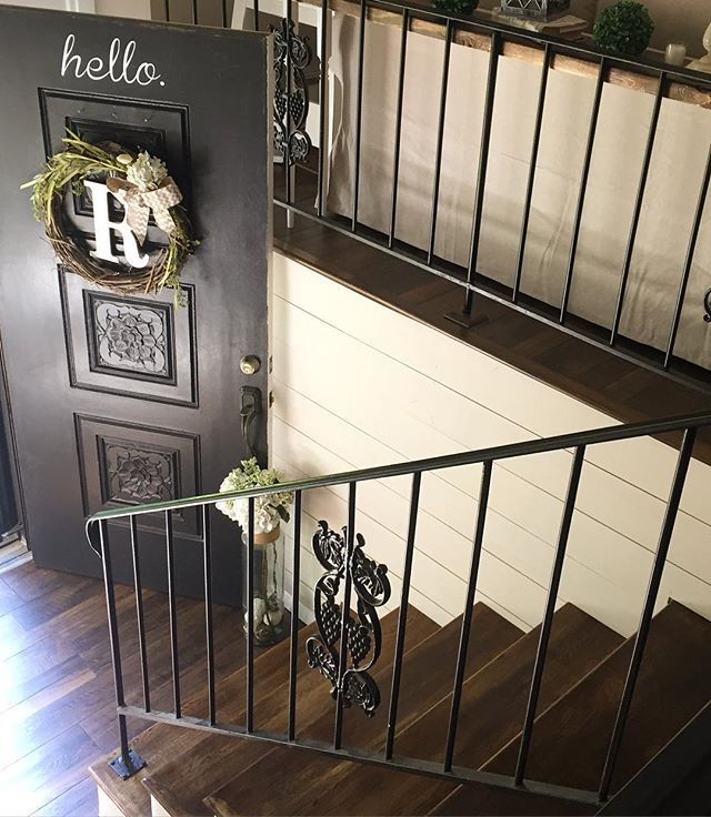 Split Entry Foyer : I m sharing another angle of our split foyer entry am