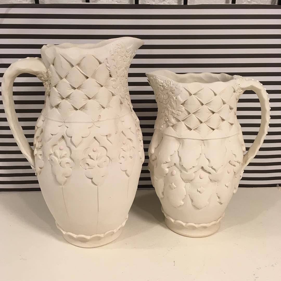 Bone Dry Pitchers Porcelain Standardceramicsupply 365 Ceramic Supplies Ceramic Painting Ceramic Pottery