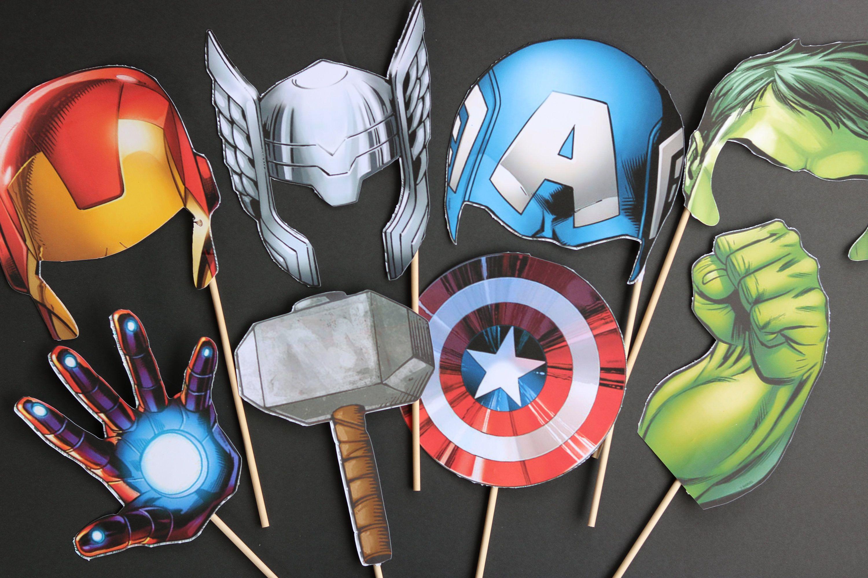Avengers Party Invitation X 10 Batman Spiderman Super Hero Birthday Hulk Iron