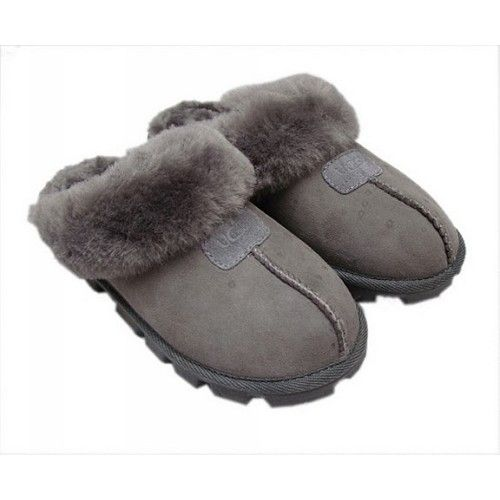 5d6de85ad66 Time To Buy Ugg Coquette Slippers 5125 Grey Clearance The Lowest ...