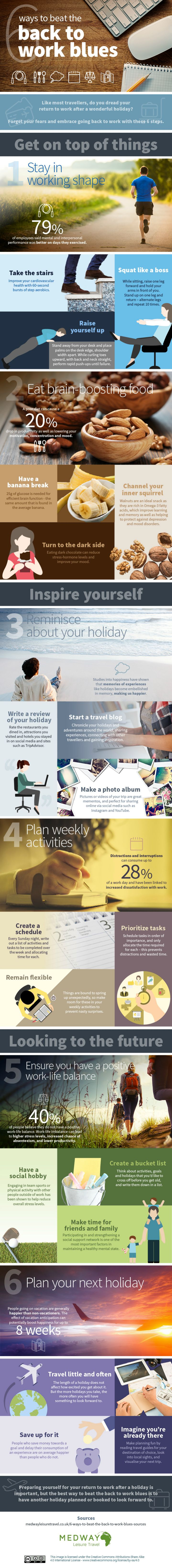6 Ways to Beat the Back to Work Blues #infographic