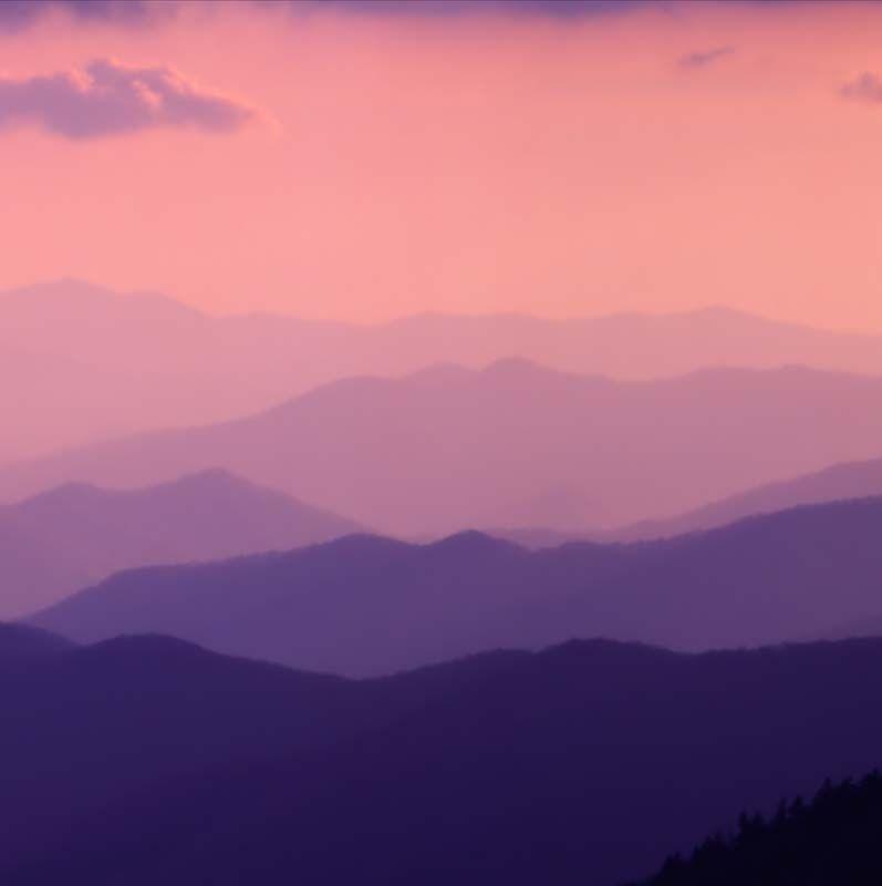 Smoky Mountains Shades Of Purple Mountain Illustration Cool Paintings Purple Mountain Majesty