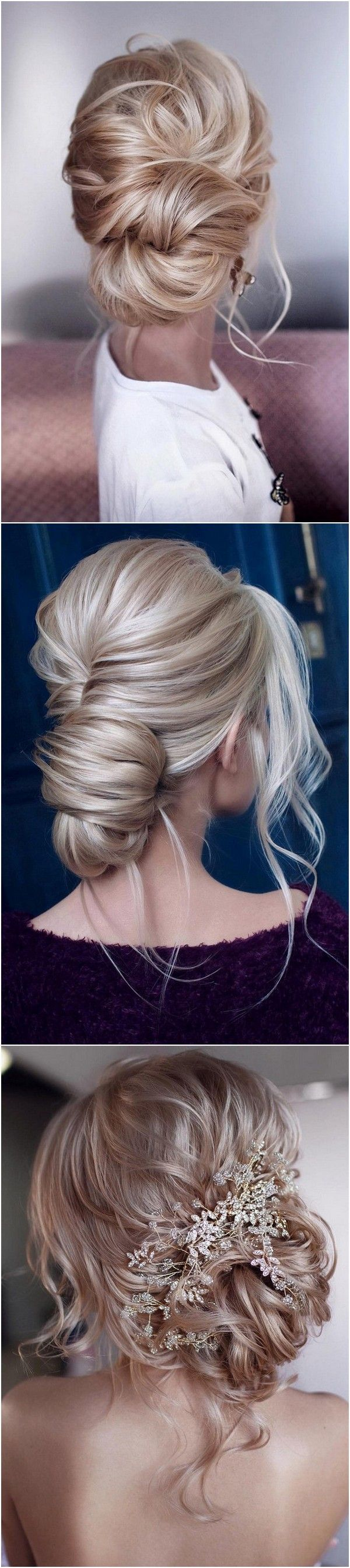 elegant low bun updo wedding hairstyles 5 #bunupdo