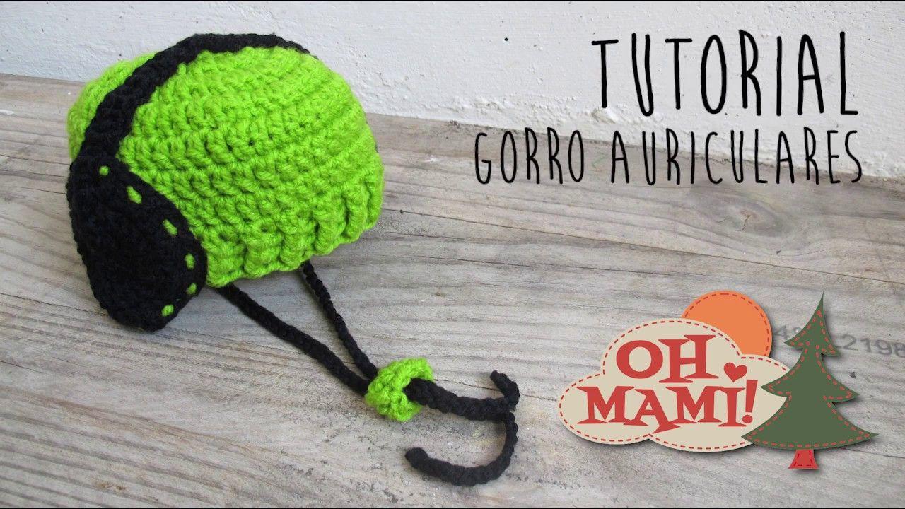 e0df22e5d35ab Gorro con Auriculares a crochet
