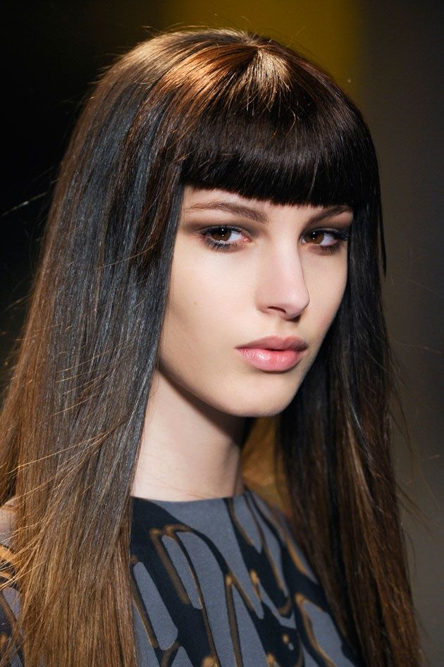 Hairstyles That Look Good With Blunt Bangs Straight Hairstyles Hairstyles With Bangs Long Hair Styles