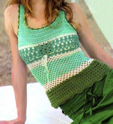 Delicadezas en crochet Gabriela: Musculosa