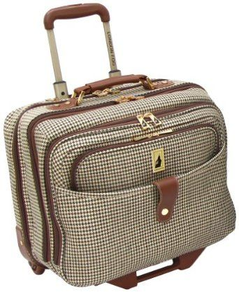 London Fog Chelsea 17 Inch Computer Bag, Olive Plaid, One Size ...