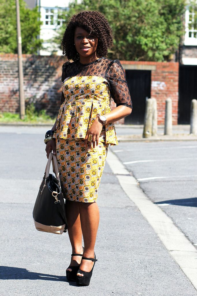 African kitenge dresses mixed with laces