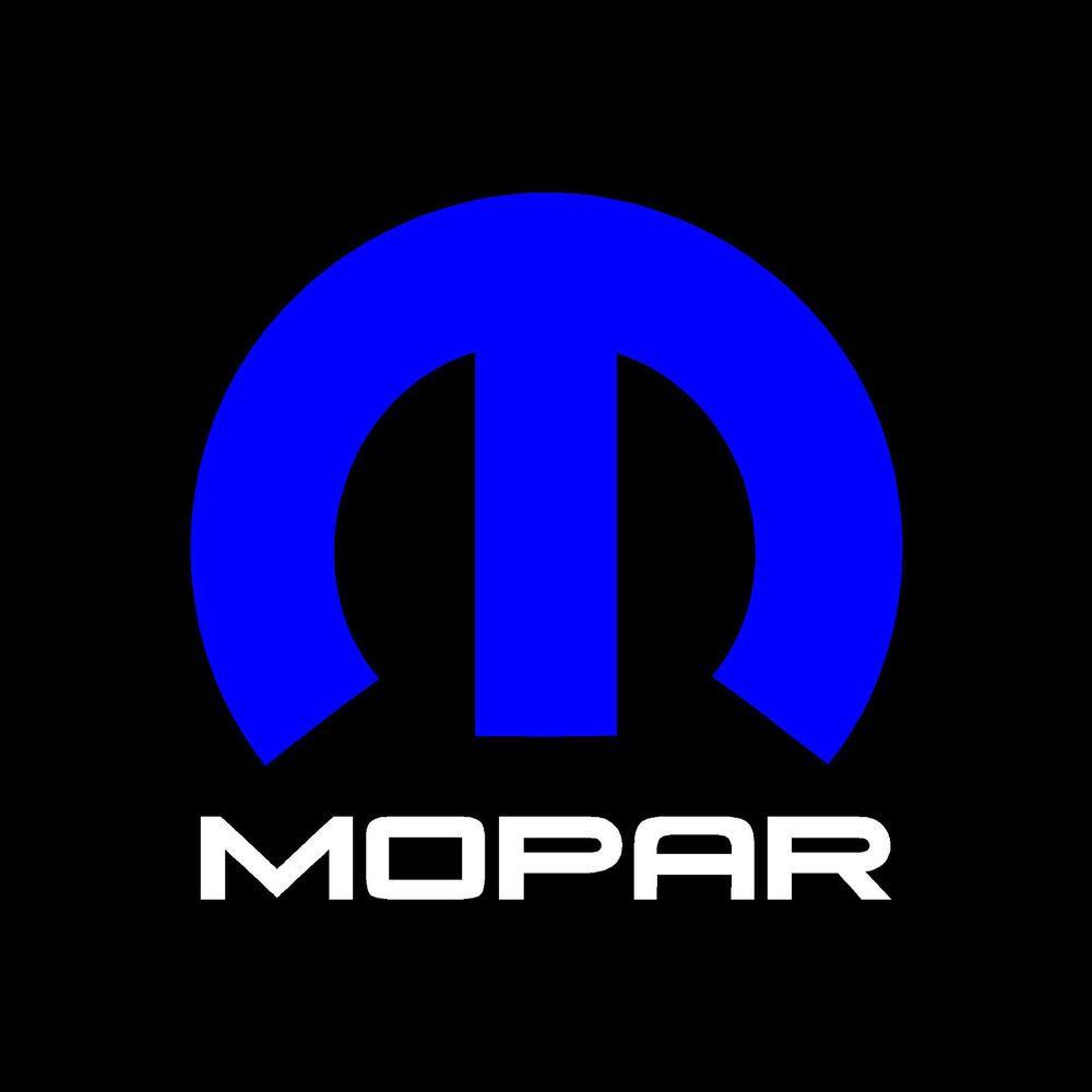 """Mopar Decal Sticker 10""""x10"""" Blue & White Vinyl"""