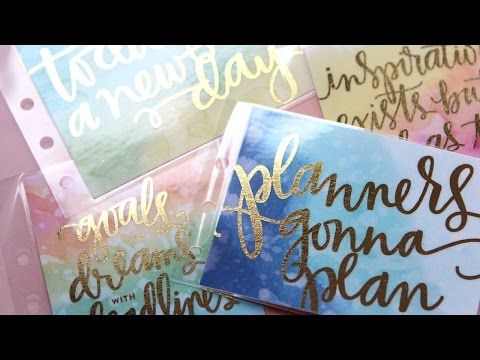 PlanThis DIY Watercolor Foil Planner 3x4 Cards (PDF files) – K Werner Design Shop