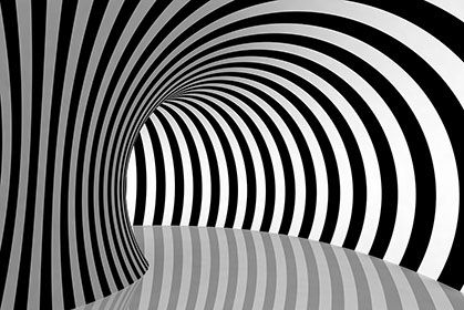 Striped Tunnel 3d Wallpaper For Walls Geometric Mandala Abstract