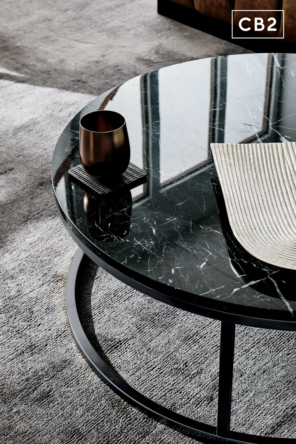 Smart Round Black Marble Coffee Table Reviews Cb2 In 2020 Black Marble Coffee Table Round Black Coffee Table Marble Coffee Table