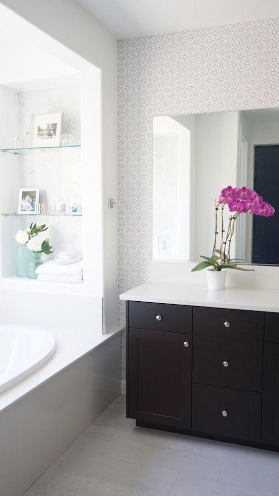 Classic Modern Master Bathroom Update Reveal Modern Master Bathroom Master Bathroom Update Master Bathroom