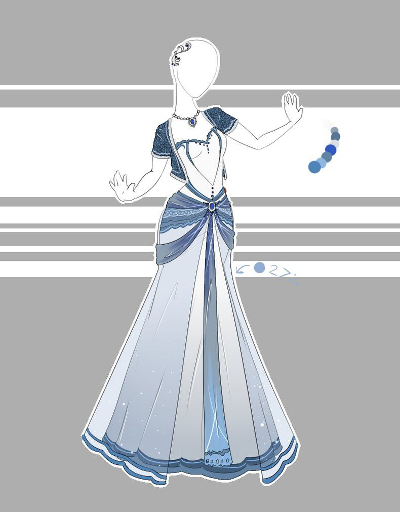 My third commission! Two more to go. For this one I was asked to draw an elegantly styled gown with a trumpet(??? I think that's the skirt style???) style skirt and a cardigan. Art (c) Scarlett-Kni...