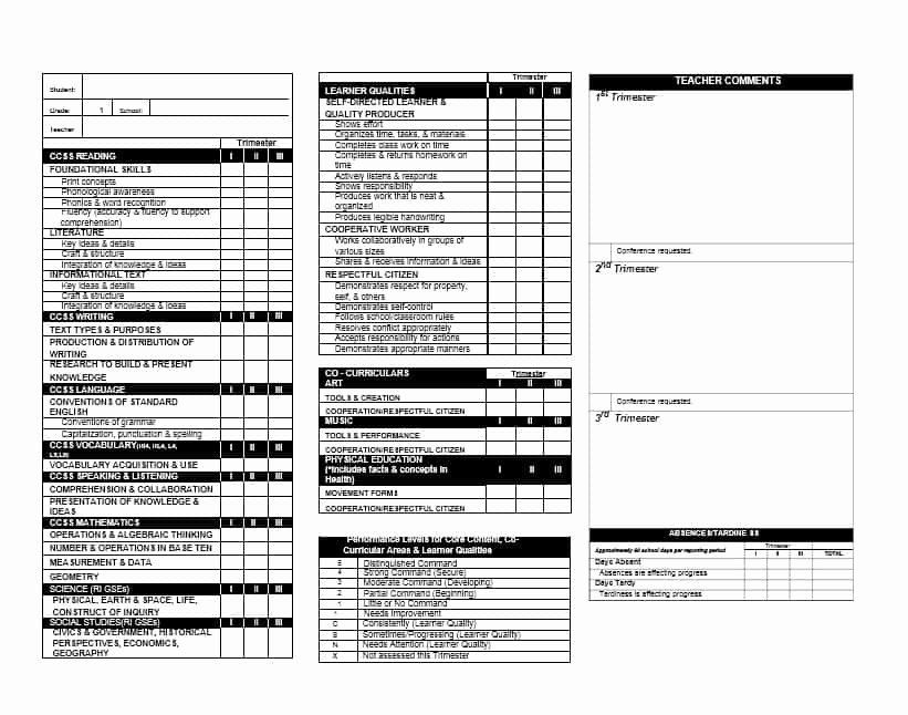 Elementary Report Card Template New 30 Real Fake Report Card Templates Homeschool High Report Card Template Free Business Card Templates Card Template