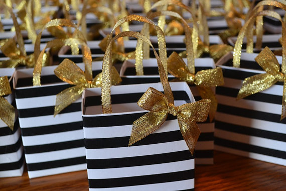 50 BLACK PARTY FAVOR TREAT BOXES BAG GREAT FOR BIRTHDAYS BRIDAL BABY SHOWER