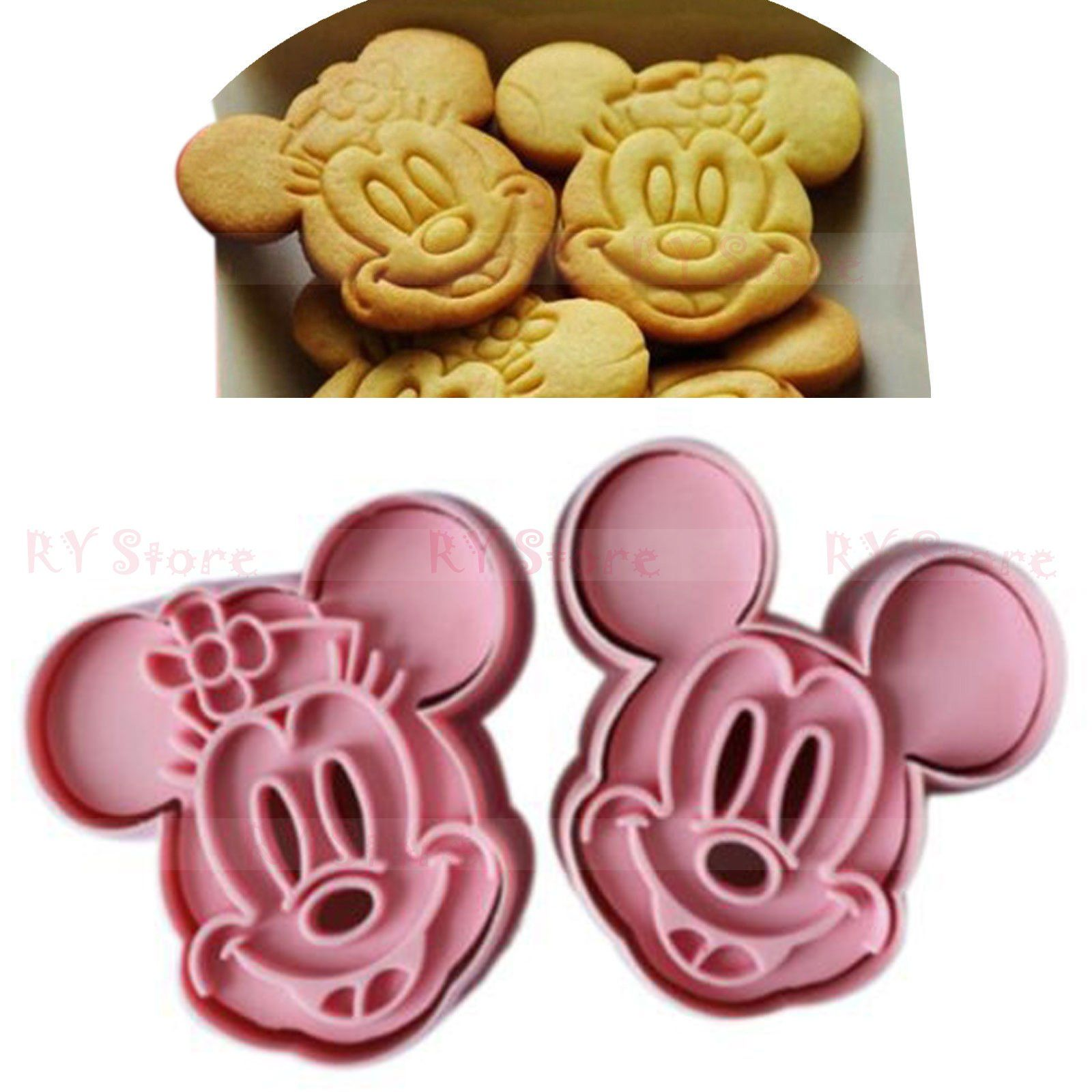 Minnie Mouse Cookie Pastry Biscuit Cutter Icing Fondant Baking Bake Kitchen Cute