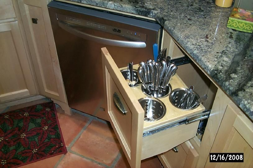 Save Space With Vertical Silverware Drawers