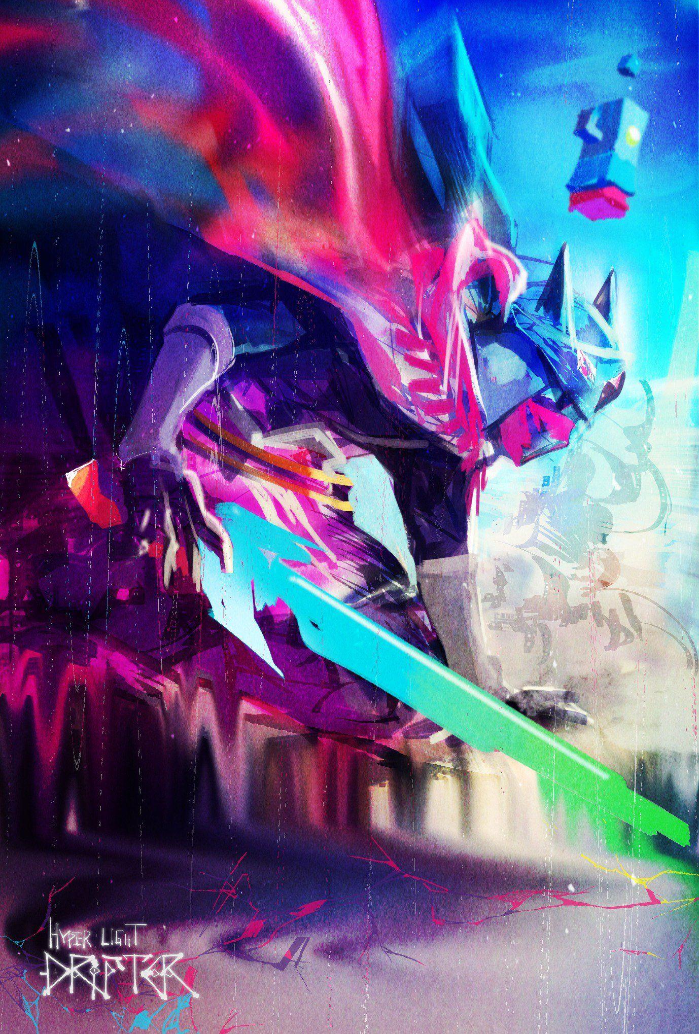 Hyper Light Drifter By シャンティ Tyokobanana Twitter Con Contenuti Drifter Art Environmental Art