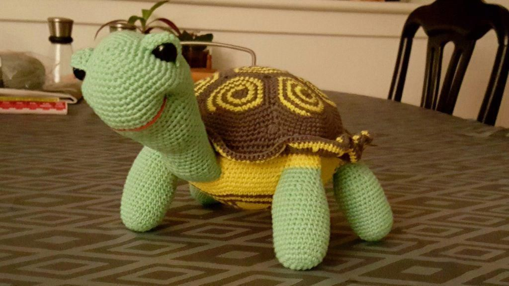 Hæklet russisk skildpadde crochet russian tortoise