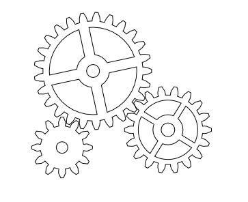 Gears Template BVS Maker Fun Factory Pinterest Coloring
