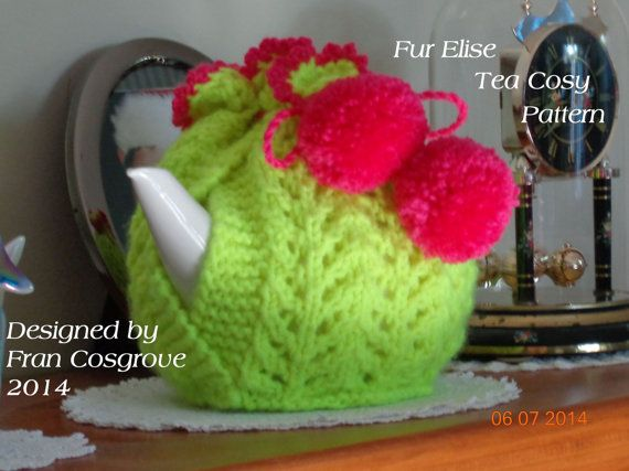 Fur Elise Tea Cosy Knitting Pattern PDF | Teteras, Patrón de ...