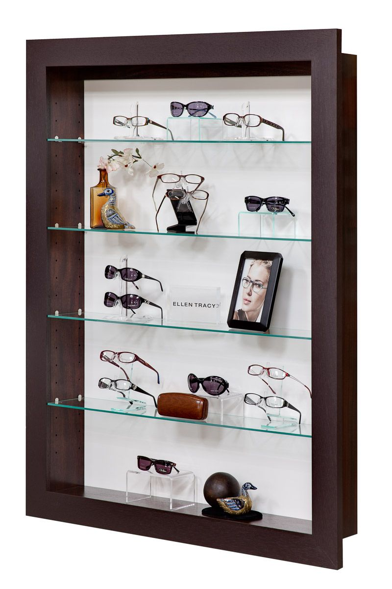 44d8f1e9877 Prestige Wall-Mounted Display Box with glass. Fashion Optical Displays   dispensaryDesign  opticaldisplay  retail  Merchandising  www.fashionoptical.com  ...