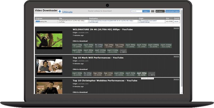 Video Downloader Ultimate Home nikuj Download video