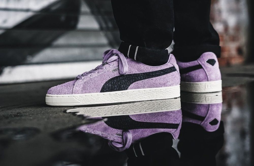446fc7ae5efc3c Puma x Diamond Supply Co Suede - Orchid Bloom   Black Trainers All Sizes  Rare