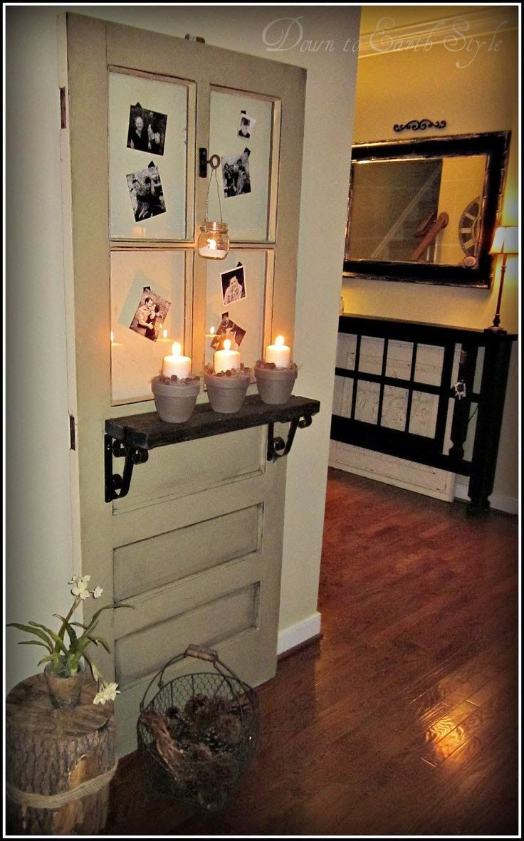 Little brags decorating with old doors interior door for Repurposed antiques ideas