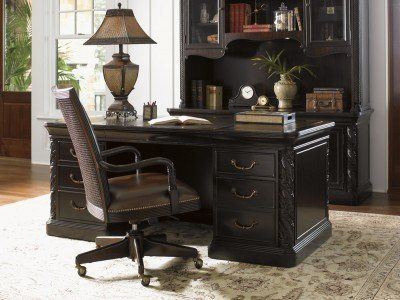 Sligh Furniture Halton House Aylesbury Pedestal Desk by Sligh Furniture. $2449.00. Halton House is inspired by the grace and adventure of the British Colonial era, with dark woods and elegant carvings, creating a sense of unhurried tradition, understated grandeur and a life well lived.