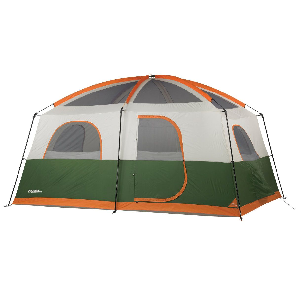 The Grizzly Family Tent from Gander Mountain is dome-styled with shock-corded fiberglass poles and a pin-and-ring system. Easy release buckles aid in quick setup and break-down actions. Weatherproof, polyester tub-style floor keeps seams off the ground and your Grizzly tent dry. Two back-to-back D-style doors allows easy entry and resmacabse.gqs: 1.