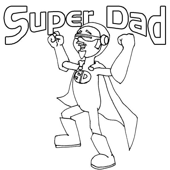 Super Dad | PRINTABLES, PATTERNS, TEMPLATES, COLORING PAGES, ETC ...