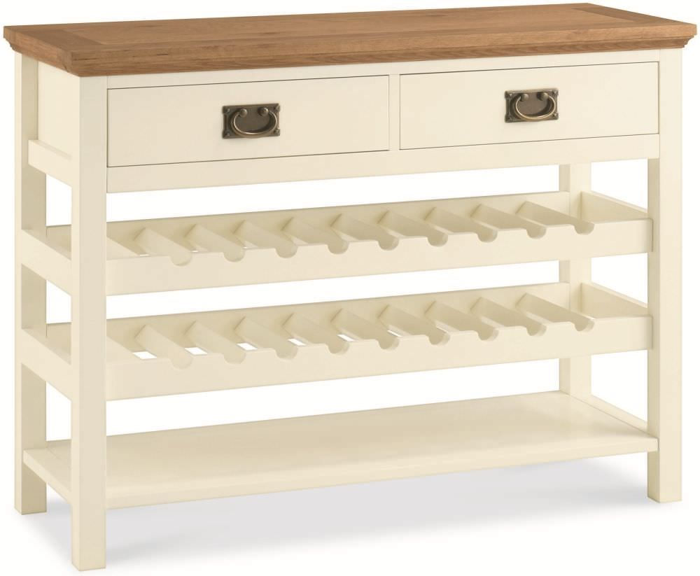 Bentley Designs Provence Two Tone Console Table With Wine Rack Console Table Living Room Furniture Console Table