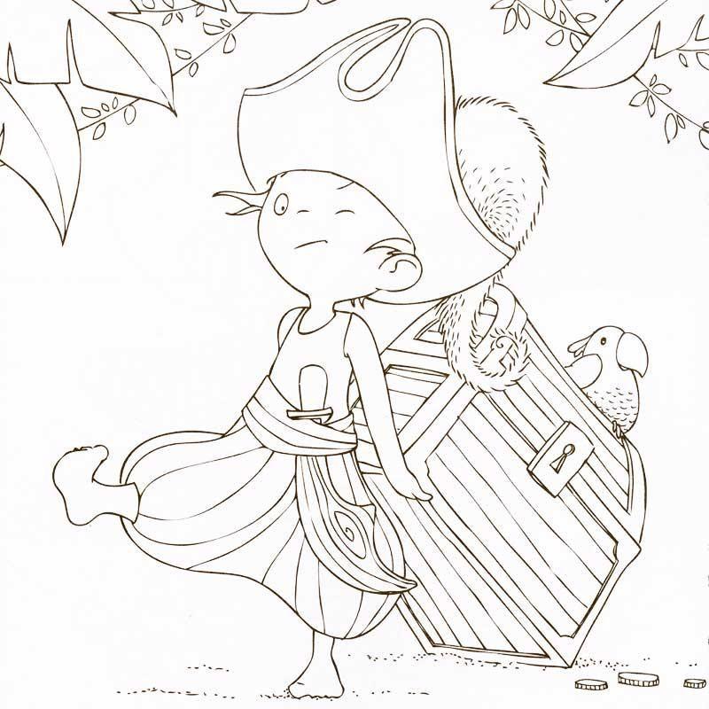 Cahier de coloriage Cap Canaille Gabin le Pirate - 80 pages | Images ...