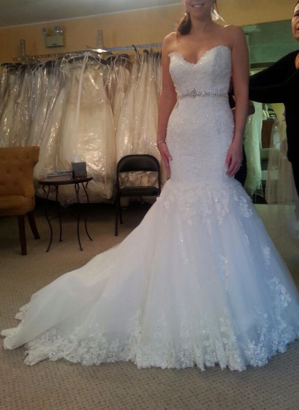 Maggie Sottero gown fit and flare mermaid style ivory/white Gown ...