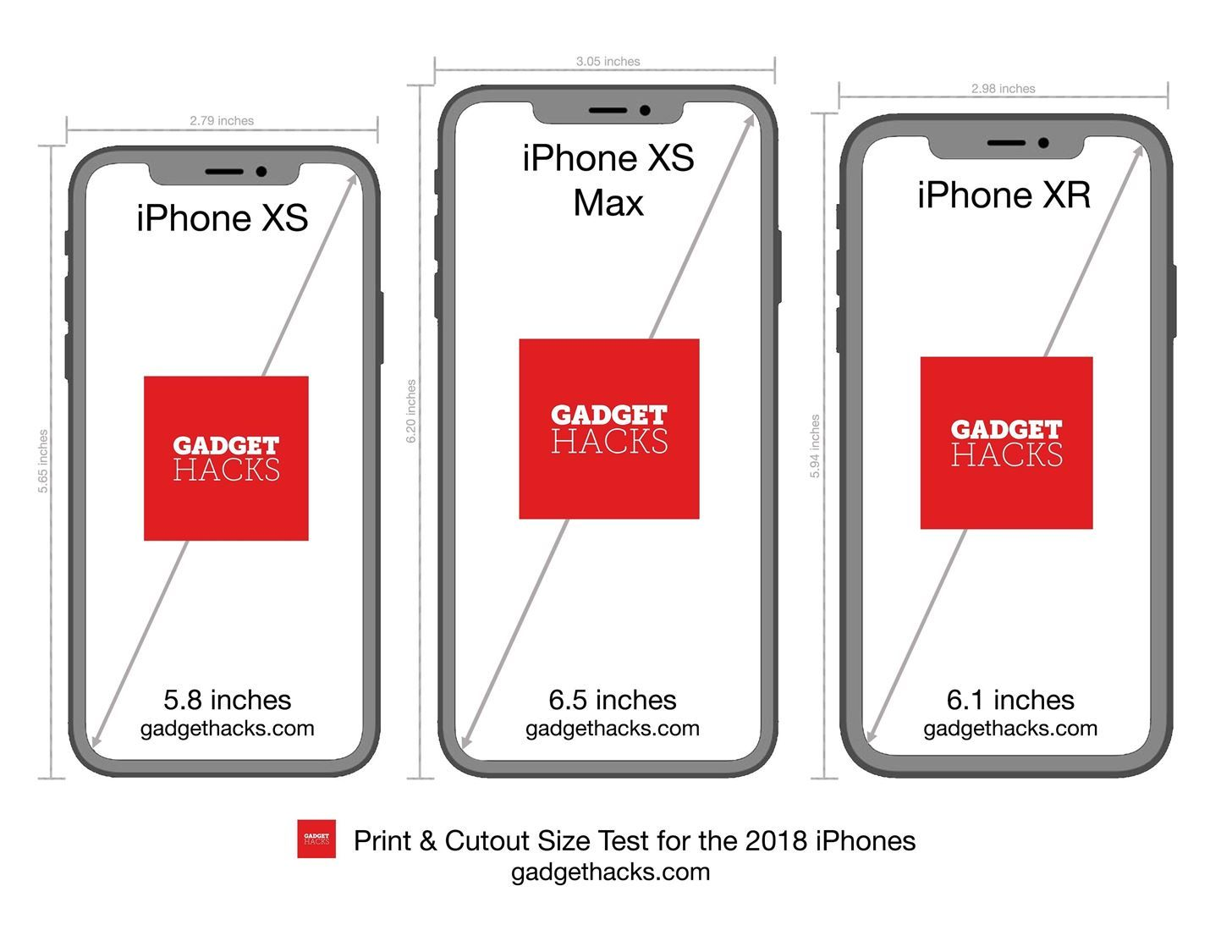 How To Print These iPhone XR, XS & XS Max Cutouts to See
