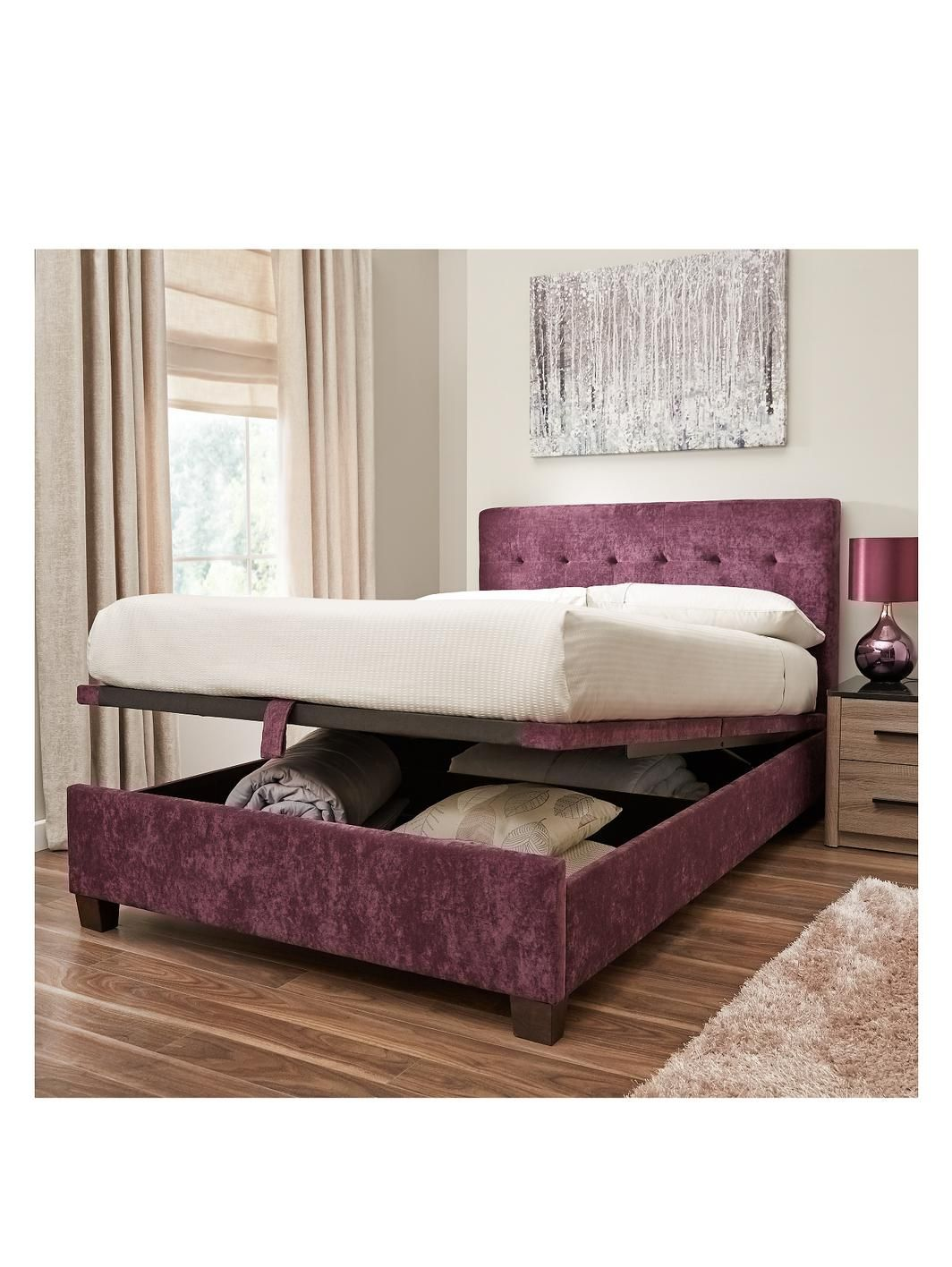 Abbey Lift-up Storage Bed Frame with Optional Mattress  3a960f4ba1