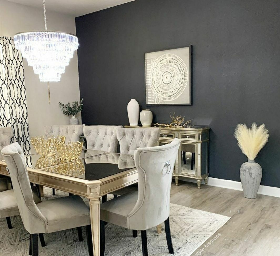 Dining Room With Black Accent Wall Black Accent Walls Home Formal Dining Room